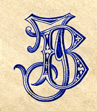 Engraved device from a letter of Brahms (courtesy Harvard Musical Association)