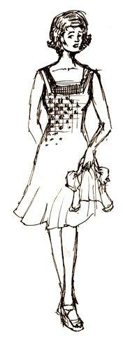 Fiordiligi costume sketch