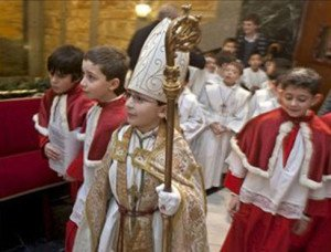 The feast of the Boy Bishop, a 20th century revival from Burgos, Spain