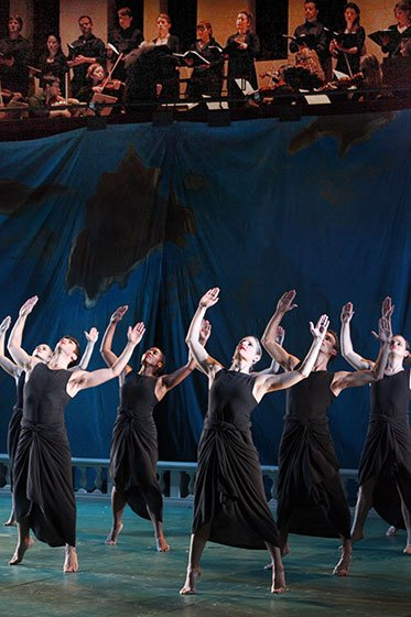 Tanglewood Music Center-Fellows and Mark Morris-Dance Group perform Dido and Aeneas (Hilary Scott photo)
