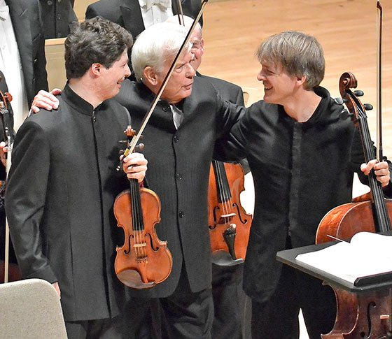 Augustin Hadelich,-Christoph von Dohnanyi,-and Alban Gerhardt (Stu Rosner photo)