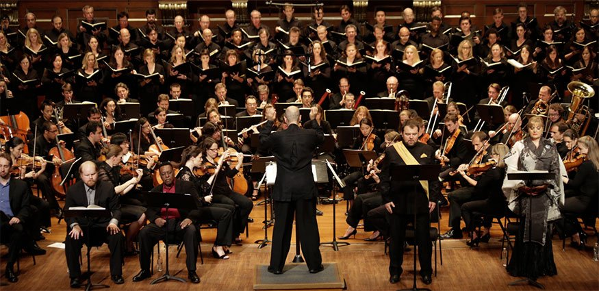 Odyssey Opera, solists and chorus (Kathy Wittman photo)