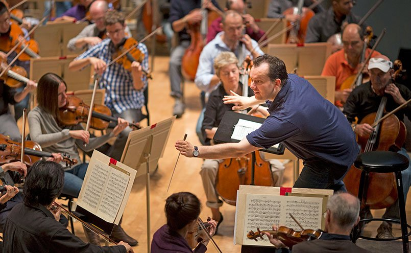 Andris Nelsons leads the BSO Monday (Marco Borggreve photo)
