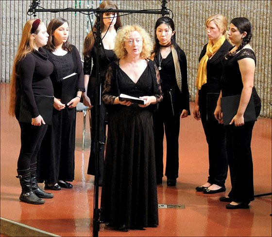 Anne Azema fronts ensemble (Camerata photo)