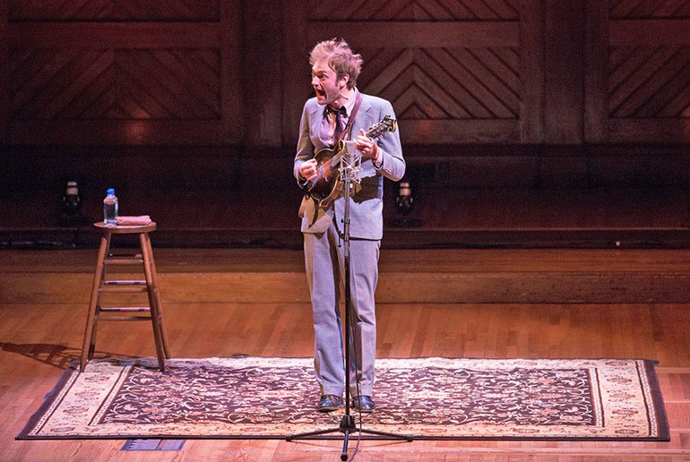 Chris Thile in Sanders Theatre (Photo: Robert Torres / Celebrity Series of Boston)