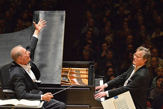 Rafael Frubeck de Burgos conducts Peter Serkin and the BSO (Sam Brewer photo)