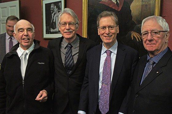 Yehudi Wyner, John Harbison, Robert Levin, Bernard Rands