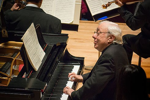 Richard Goode with BSO (Stu Rosner photo)