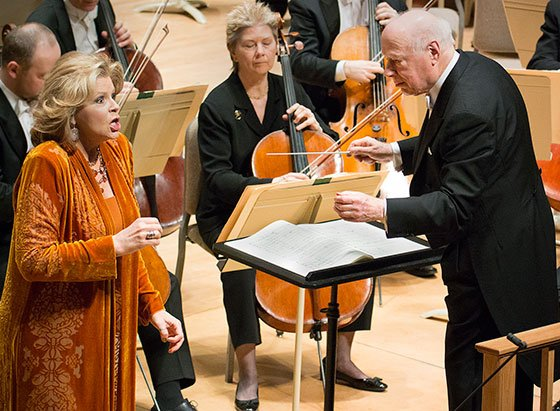 Susan Graham and Bernard Haitink (Stu Rosner photo)