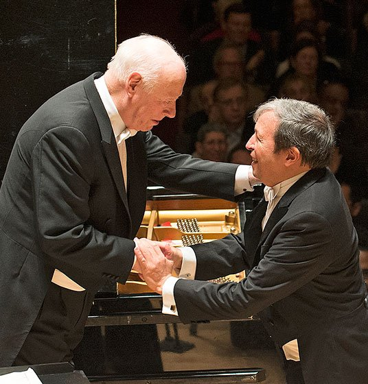 Bernard Haitink and Murray Perahia (Stru Rosner photo)