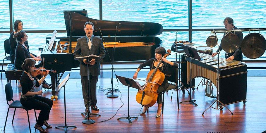 Radius Ensemble with Aaron Engebreth (Michael J. Lutch photo)