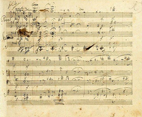 Grosse fuge manuscript page