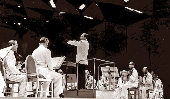 Fine conducting at Tanglewood, 1962 (courtesy Irving Fine Collection, Music Division, Library of Congress.""