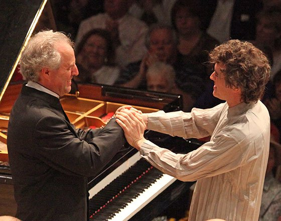 Manfred Honeck and Paul Lewis (Hilary Scott photo)