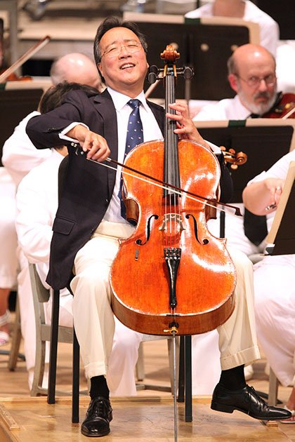 A certain joyful cellist (Hilary Scott photo)