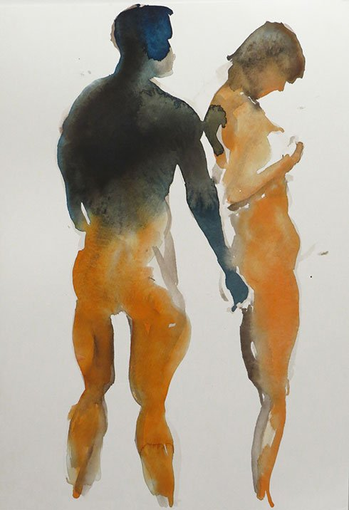 2  (Eric Fischl watercolor used by permission)