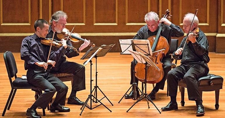 Julliard Quartet at Jordan Hall (Robert Torres photo)
