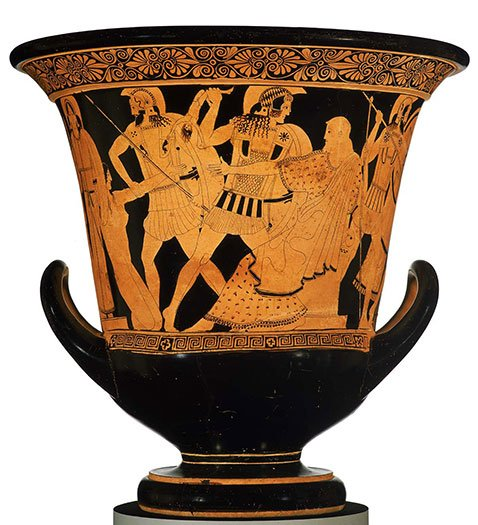 The Altamura Painter, Calyx krater with scenes of the Sack of Troy, ca. 470 - 460 BCE. (MFA, Boston Collection; 59.178).