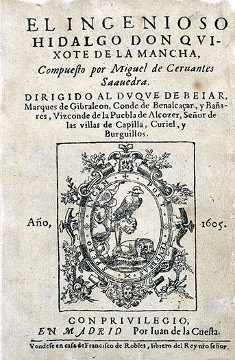 Early Cervantes edition.