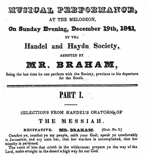 Historic Program (Handel and Haydn Society)