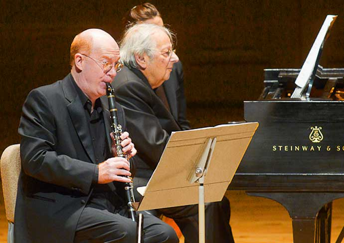 Thomas Martin and Andre Previn in 2011 (Michael J. Lutch photo)