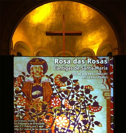 Projection in the apse (Zoe Kemmerling photo)