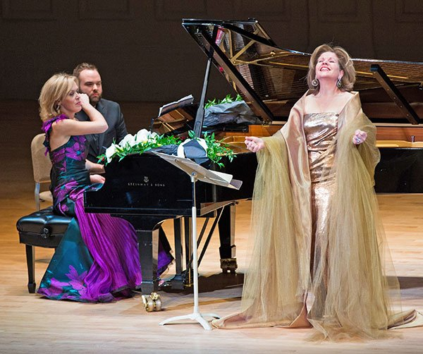 Olga Kern and Renee Fleming (Robert Torres photo)