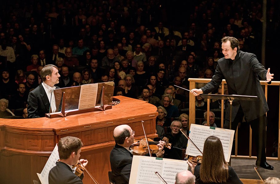 Andris Nelsons and Olivier Latry (Liza Voll photo)
