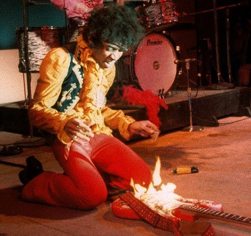 Hendrix needed lighter fluid.