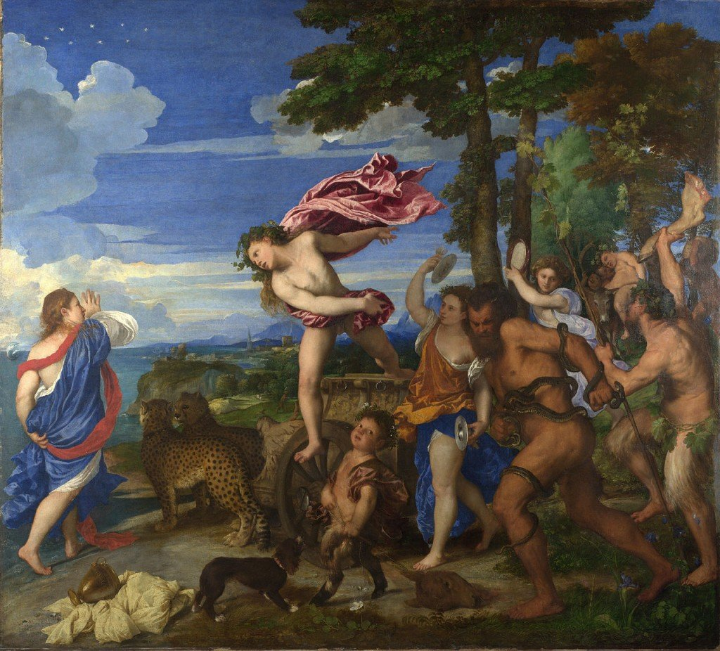 Bacchus and Ariadne by Titian