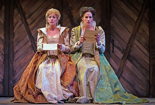 Mara Bonde as Mrs. Ford and Courtney Miller as Mrs. Page (Katty Wittman photo)