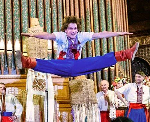 Alex Mosko or Nicholas Buniak leaps