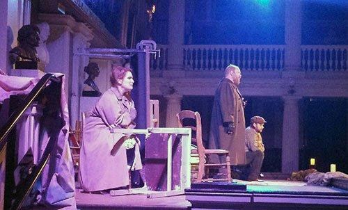 essica Jacobs as Mimi, Ethan Bremner as Rodolfo and John Allen Nelson as Marcello (Samuel Kjelberg photo)