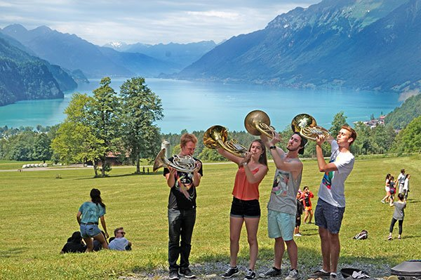 BPYO horns in Interlaken (Dave Jamrog photo)