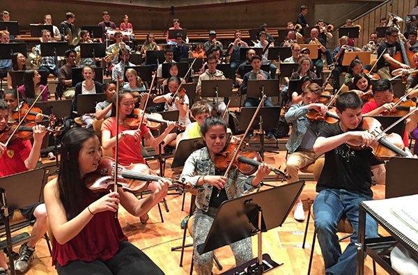 Berlin trumpets join BPYO in Philharmonie rehearsal