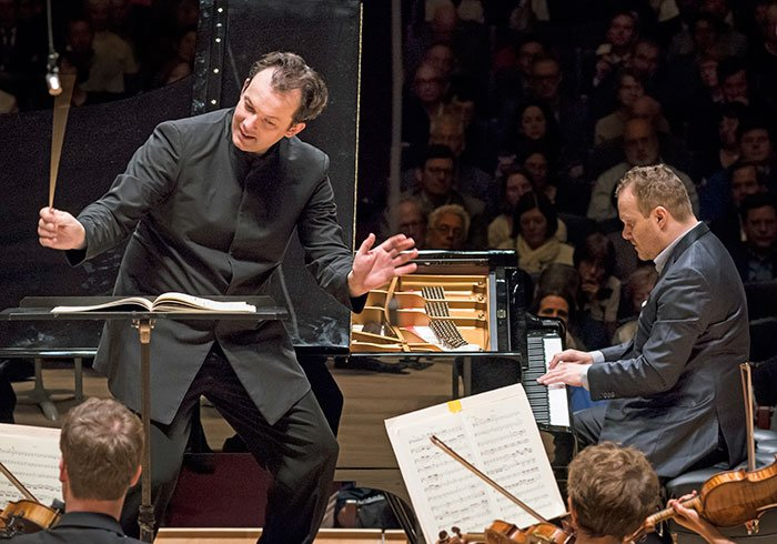 Andris Nelsons and Lars Vogt (Liza Voll photo)