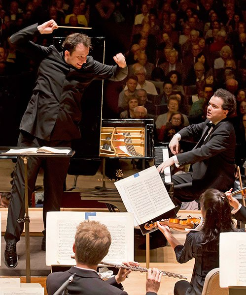 Andris Nelsons and Evgeny Kissin open BSO season (Winslow-Townson photo)