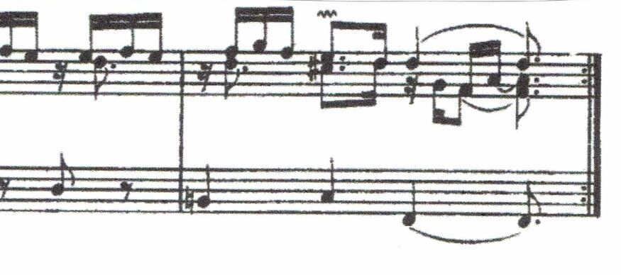 Couperin, La Convalescente (26th Ordre). A less subtle composer would have sounded a note on the fourth beat.