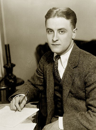 F Scott Fitzgerald in1921