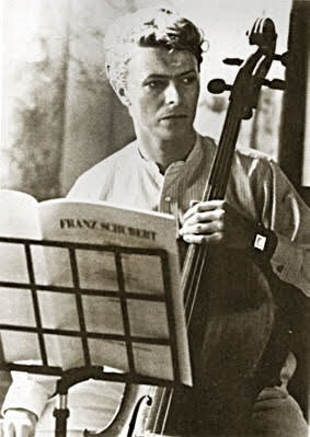 Still from The Hunger (1983), with Bowie as cellist.