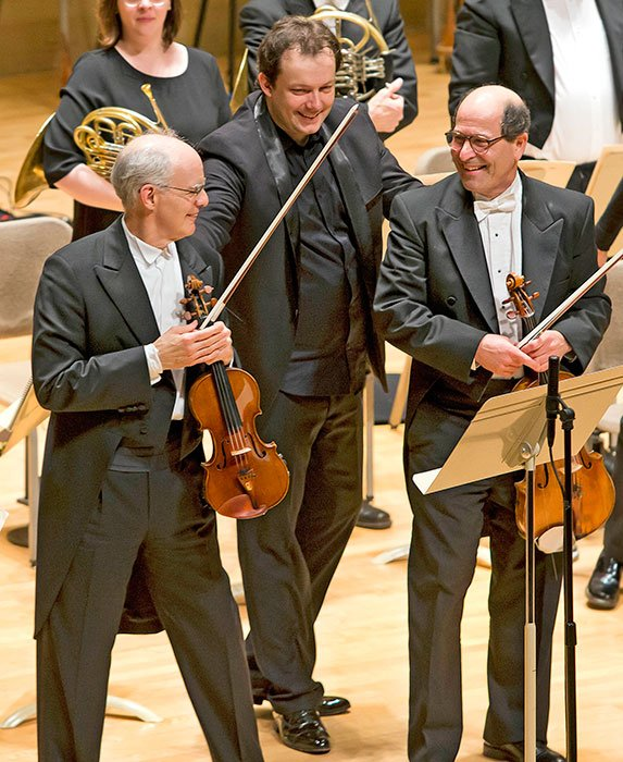 Malcolm Lowe,-Andris Nelsons,and Steven Ansell (Winslow Townson photo)