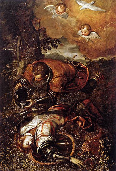 Tintoretto's Tancred Baptizing Clorinda
