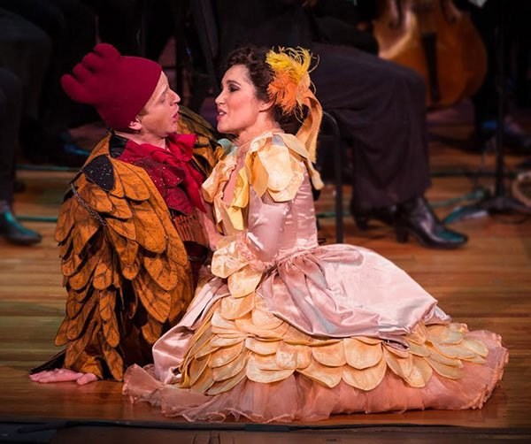 Adrew Garland as Papageno and Sarah Heaton as Papgena