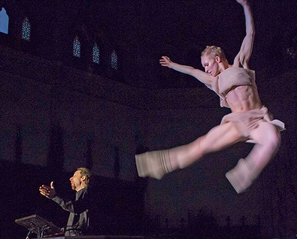 Gravity defying dancer Haley Day channels Baritone David Kravitz's animated delivery( Josh Kastrof photo)