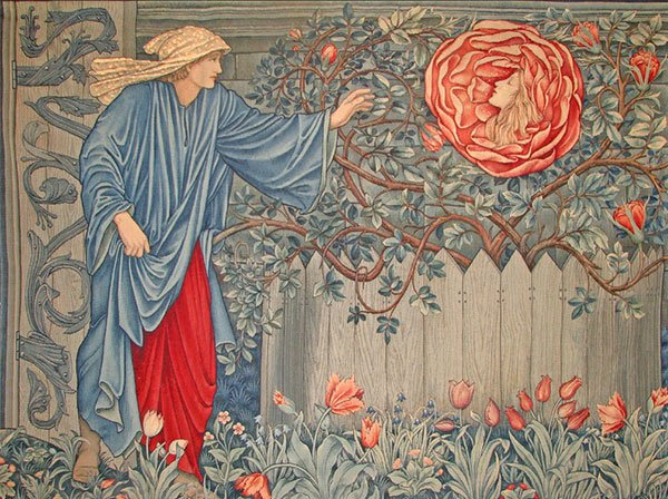 Romance of the Rose tapestry designed by William Morris