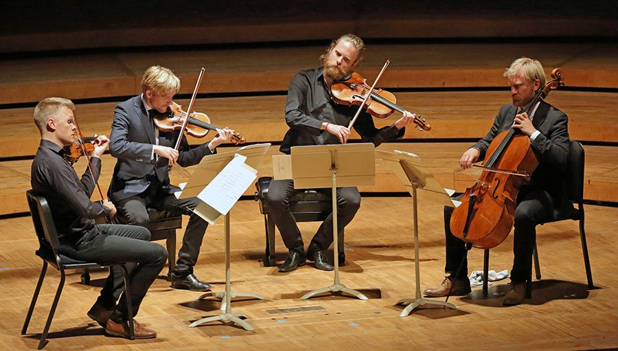 Teh Danish String Quartet at Ozawa hall (Hilary Scott photo)