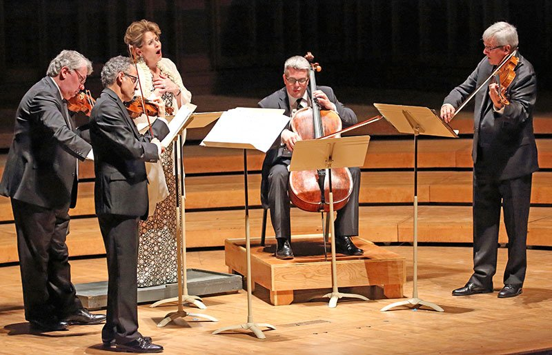 Renee Fleming partners with Emerson String Quartet (Hilary Scott photo)