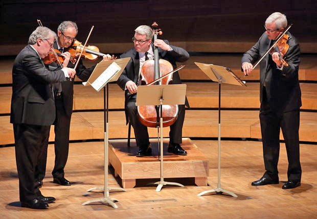 Emerson Quartet at Ozawa hall (Hilary Scott photo)