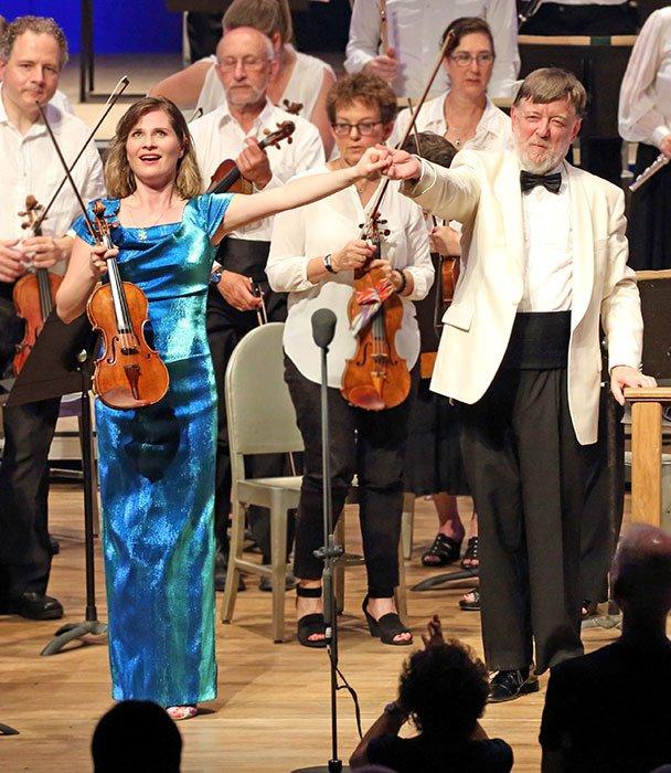 Lisa Batiashvili and Sir Andrew Davis (Hilary Scott photo)