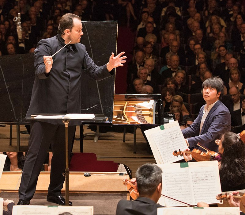 Andris Nelsons conduct Lang Lang and the BSO (michael Blanchard photo)